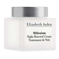 Elizabeth Arden Millenium Night Renewal Cream 50ml $39.99. This rich, luxurious water-based cream replaces daily moisture loss on skins surface and helps smooth fine lines, allowing skin to look and feel more youthful.