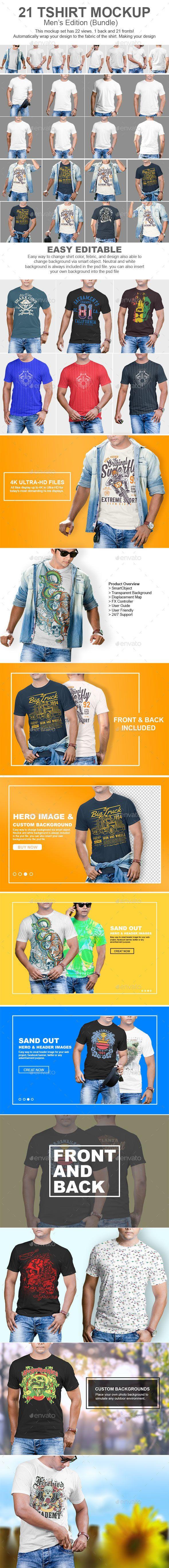 Download 21 Mens Tshirt Mockup Bundle Tshirt Mockup Clothing Mockup Mockup