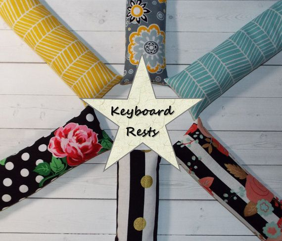 Keyboard rest Computer keyboard rest   Pick your own by Laa766  chic / cute / preppy / computer, desk accessories / cubical, office, home decor / co-worker, student gift / patterned design / match with coasters, wrist rests / computers and peripherals / feminine touches for the office / desk decor