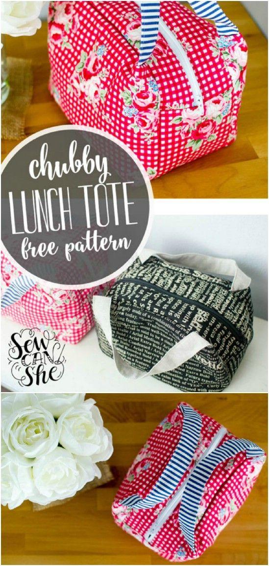 10 einfach zu nähen DIY Lunch-Taschen und Beutel für Kinder und Erwachsene