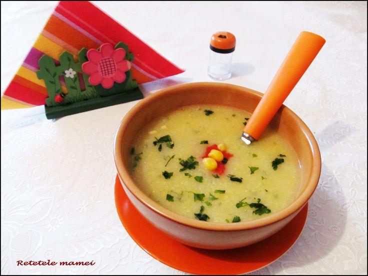 Supă cremă de porumb