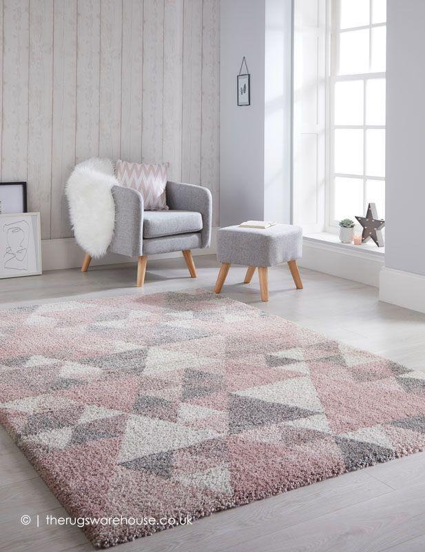 Dakari Nuru Pink Rug Pink And Grey Rug Bedroom Decor Grey Pink