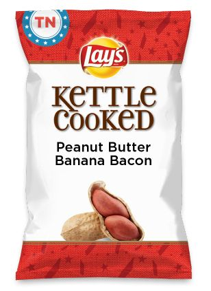 Wouldn't Peanut Butter Banana Bacon be yummy as a chip? Lay's Do Us A Flavor is back, and the search is on for the yummiest chip idea. Create one using your favorite flavors from around the country and you could win $1 million! https://www.dousaflavor.com See Rules.