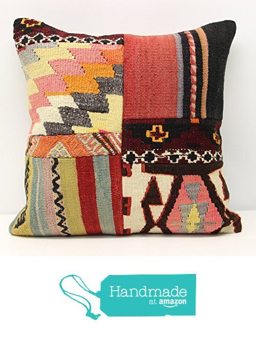 Decorative Patchwork kilim pillow cover 18x18 inch (45x45 cm) Handmade Kilim pillow cover Office Decor Accent Hand woven Cushion Cover from Kilimwarehouse https://www.amazon.com/dp/B01N9LQXA4/ref=hnd_sw_r_pi_dp_wC7yybVJFHQYK #handmadeatamazon