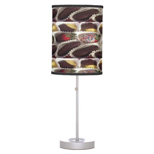 A delectable table lamp designed for lovers of Chocolate covered fruit and no calories.