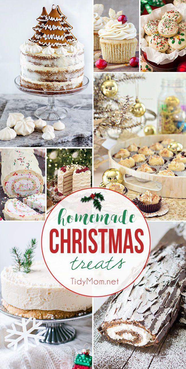 'Tis the season to satisfy your sweet tooth and start your holiday baking with homemade Christmas treats. Whether you're looking for an impressive cake for entertaining or cookies and fudge to deliver as gifts, I've got you covered. visit TidyMom.net for