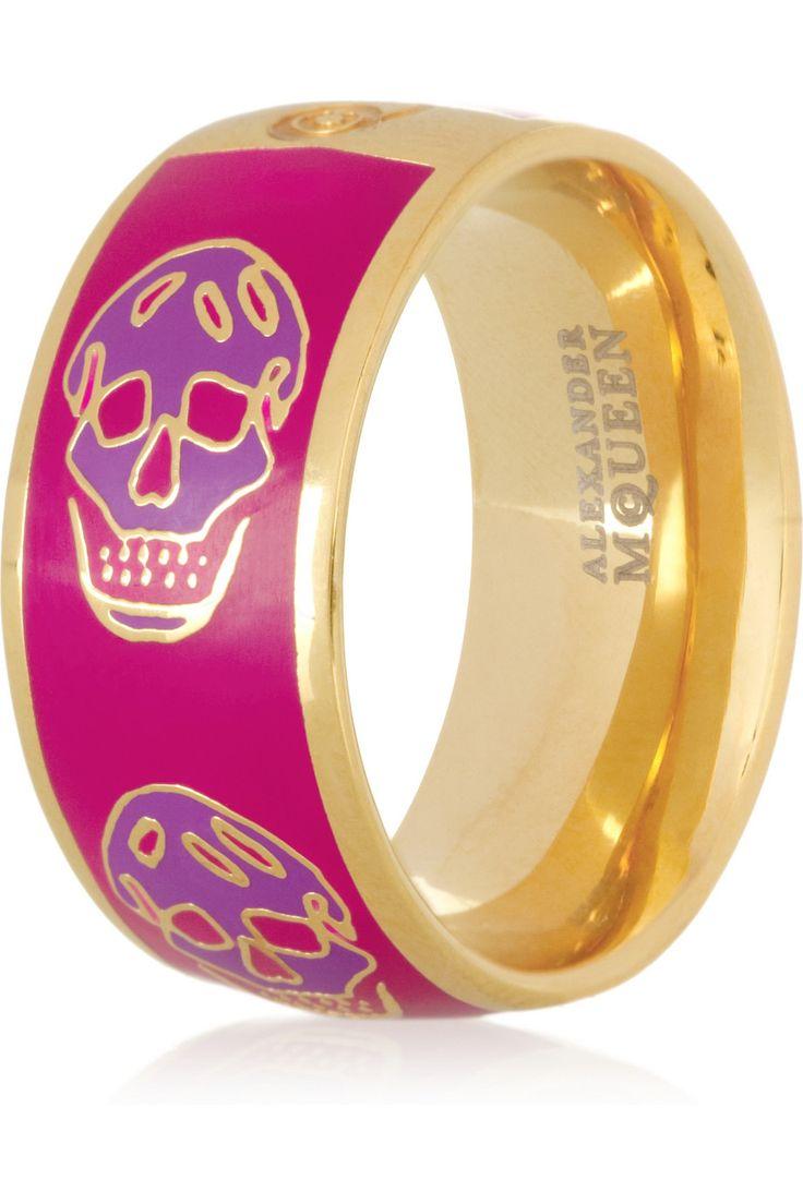 I WANT! skull ring, alexander mcqueen