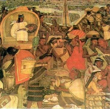 Diego de Rivera: El mercado de Tlatelolco.