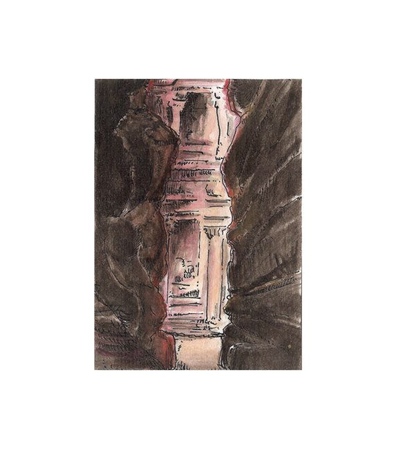 aceo art card Petra   Heritage collection  by ThreeEyesStudio, €4.00