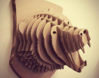 Bear Head. Animal head taxidermy