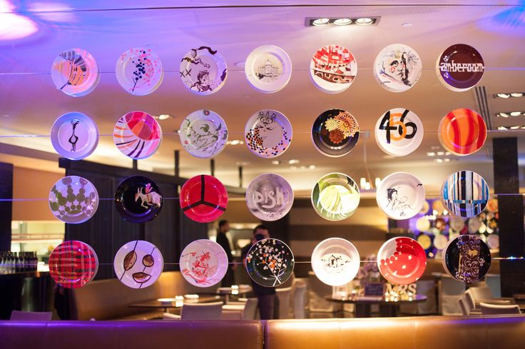 Hand-Painted Dishes at dish Restaurant