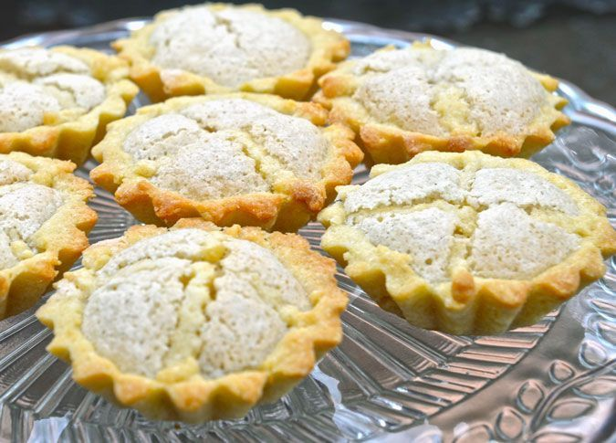 Kejsarkronor (Emperor's Crowns).Swedish pastries with ab almond filling. Recipe at ATasteofScandinavia.net