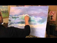 Как написать/нарисовать морские волны маслом! #Dari_Art - YouTube