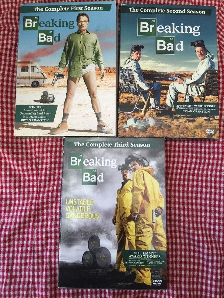 Breaking Bad Season 1 2 3 DVD TV Show First Second and Third | eBay