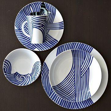 Wave Dinnerware Set on westelm.com & 64 best Fancy dinnerware images on Pinterest   Dish sets Dinner ...