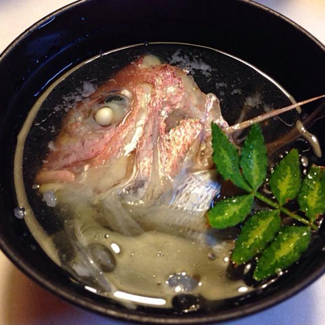 こんな料理ないかも でも美味しい - 108件のもぐもぐ - 鯛の冷製潮汁 by sasachanko