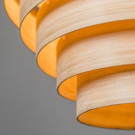 Lampa wisząca Bamboo 2 naturalna #naturalnalampa #lampaeko #nietuzinkowalampa