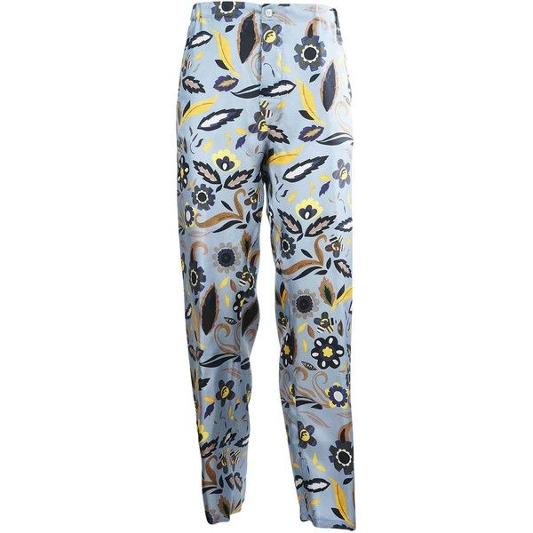 Printed Trousers (€570) ❤ liked on Polyvore featuring men's fashion, men's clothing, men's pants, men's casual pants, mens zip off pants, mens blue pants, mens elastic waist pants, mens zipper pants and mens stretch waist pants