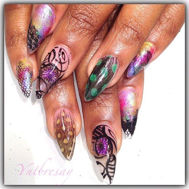 #nails #feathers #now #notips n##newshit #lace #atl #atllife #artistry #fcnails #nailporn #nailartaddict #atlnailtechswanted #atlnailtech #atlnailartist #ignails #igpics #trendy #trendsetter #thesenailsare4thesegirls #Padgram