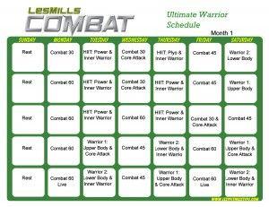 Les Mills Combat Ultimate Warrior Month 1