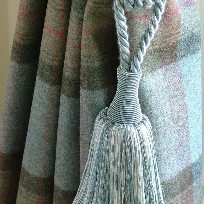 100 Wool Curtains Finished With Chunky Tassel Tieback