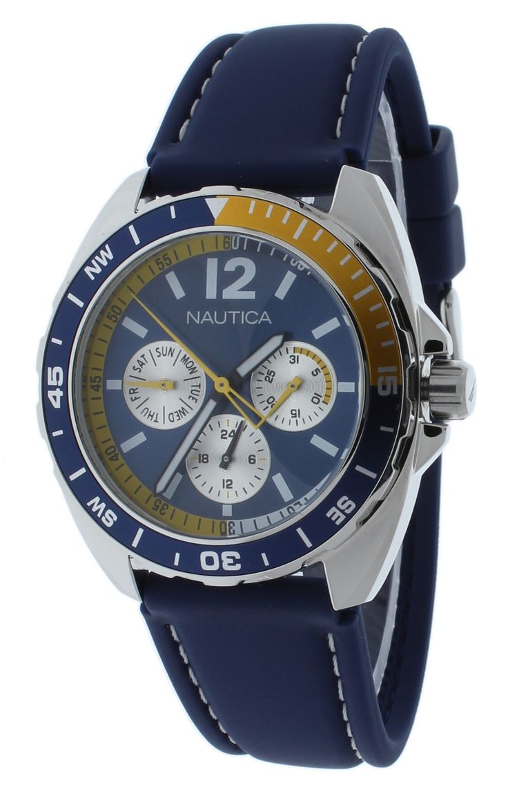 Nautica N09915G Unisex Watch Blue Sport Ring Box Set Multifunction