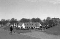 Het Witte Dorp gezien vanaf de Schiedamseweg beneden. (datering: 8/3/1989, 2005-11244)