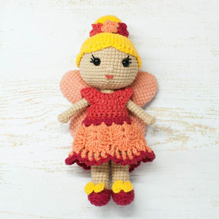 This beautiful crochet fairy doll is sure to lighten your heart! Create this wonderful doll with the help of this easy-to-follow Fairy Doll Crochet Pattern!