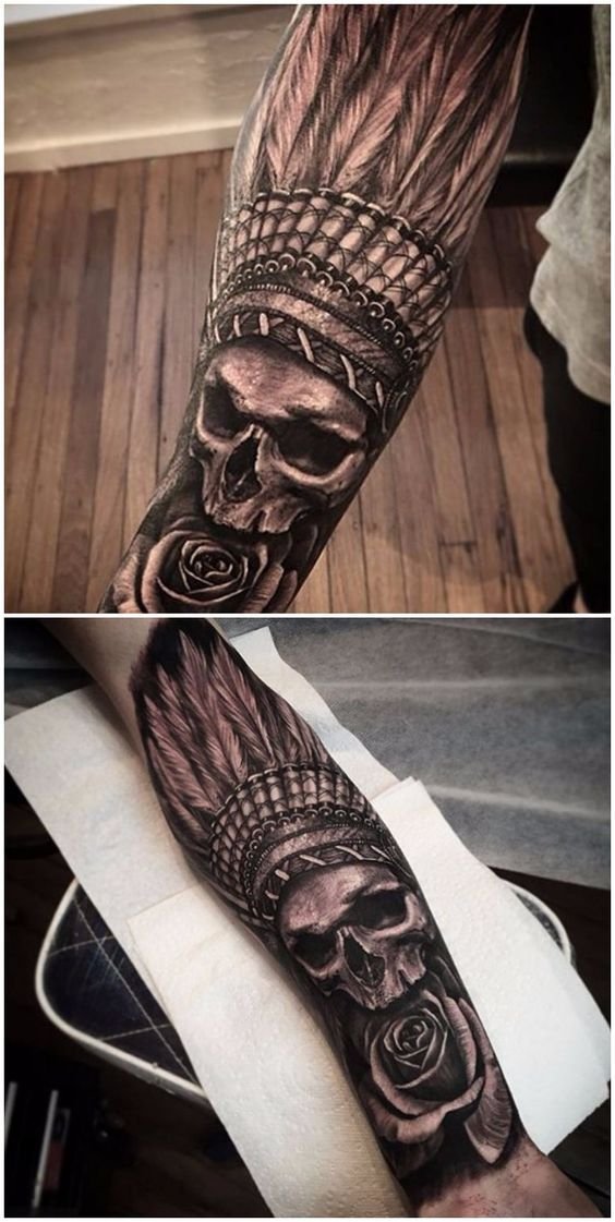 best 25 indian skull tattoos ideas on pinterest skull tattoos native indian tattoos and. Black Bedroom Furniture Sets. Home Design Ideas
