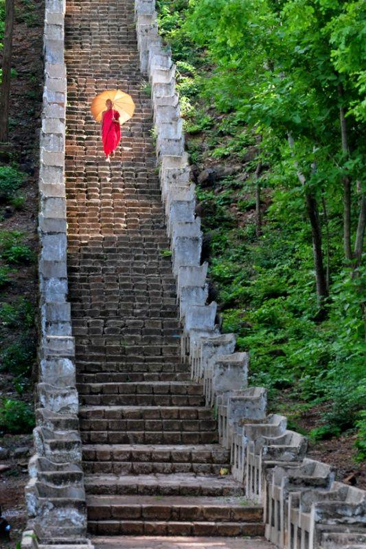 Ladder of  heaven. - Phoewin Hill, near Monywa City, Myanmar