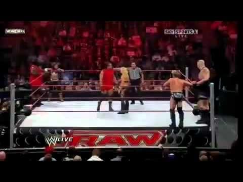 WWE RAW Trish Stratus, MVP and Mark Henry vs Beth Phoenix, Chris Jericho...