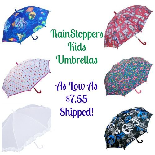 Be ready for April Showers with a RainStoppers Kids Umbrella! Kids umbrellas are as low as $7.55! I love all the cute designs!  Click the link below to get all of the details ► http://www.thecouponingcouple.com/rainstoppers-kids-umbrellas-as-low-as-7-55-shipped/  #Coupons #Couponing #CouponCommunity  Visit us at http://www.thecouponingcouple.com for more great posts!