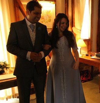 An English Wedding following a Hindu Marriage ceremony.