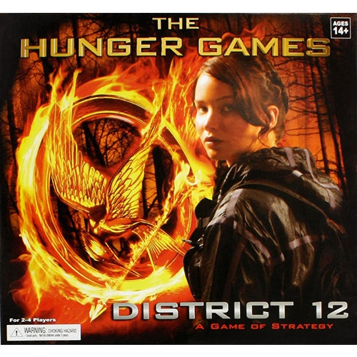 From The Hunger Games movie comes the District 12 board game! As a resident of District 12 can you avoid The Reaping by using your wits to acquire food, clothing, medicine, and fuel or are you the one to be chosen?  $29.99  http://www.calendars.com/Drama-Movies/The-Hunger-Games-District-12-Board-Game/prod201300006760/?categoryId=cat00065=cat00065#