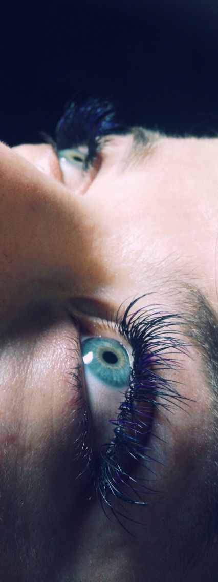 Colored eyelash extension full set by me !