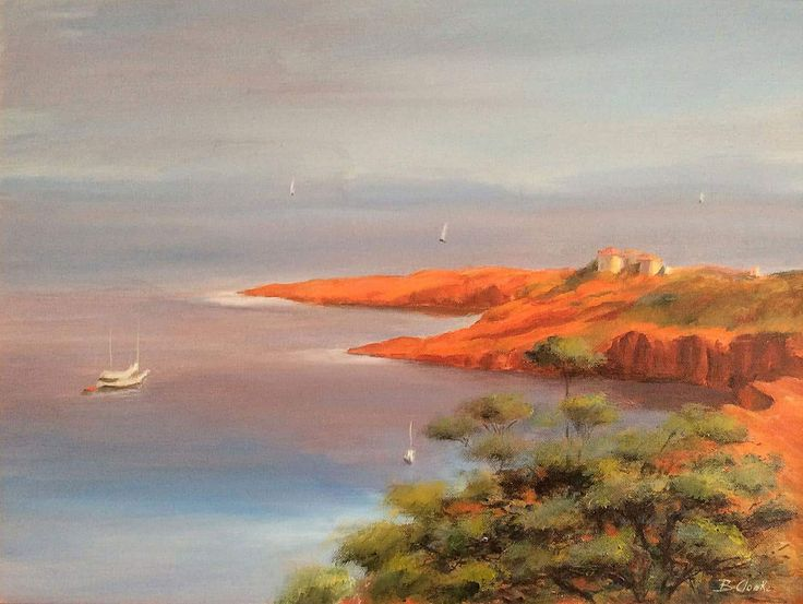 View French Riviera by Beatrice Cloake N.A.P.A. Browse more art for sale at…