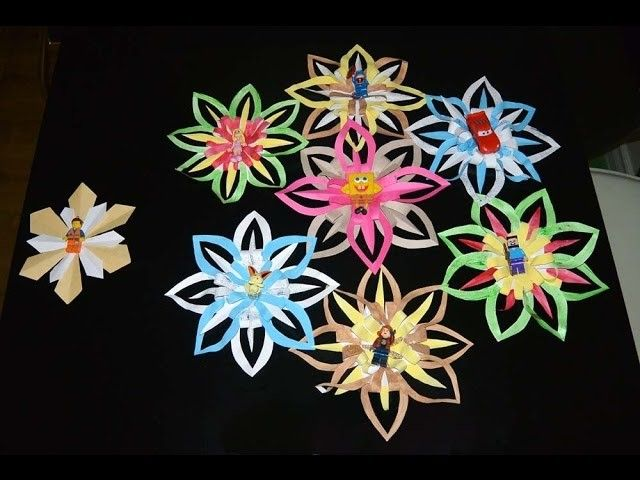 Colorful paper cut-outs Snowflake toy wreath decor DIY art &craft life hack