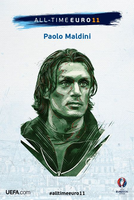 Paolo Maldini - All-time EURO 11 Nominee