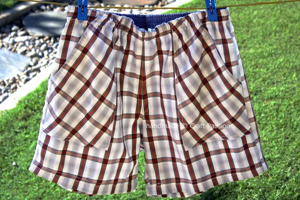 Unisex Boxer Shorts - tutorial and free pattern