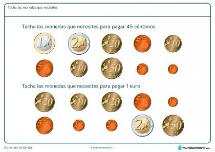 Ficha de dinero necesario para Primaria