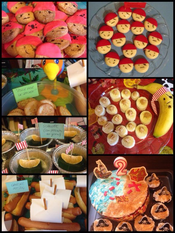 Pirates party ideas for toddlers  • cookies rabble  • babybell rabble  • polly's cracker•> captain banana's treasure  • jelly apple juice with tangerine sloops  • carrot cake and cupcakes with cheese cream  • hotdog argosy