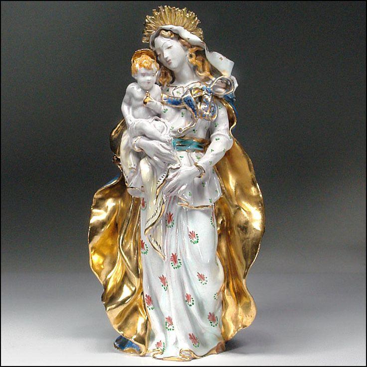 Eugenio Pattarino Italian Art Pottery EPF Madonna & Child ...