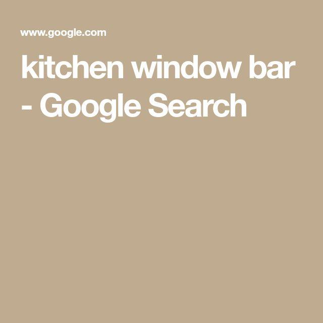 kitchen window bar - Google Search