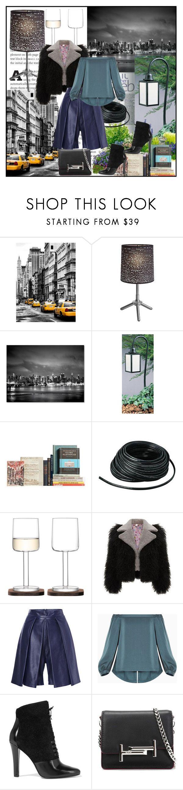"""City Landscape"" by din-sesantadue ❤ liked on Polyvore featuring Trademark Fine Art, Arroyo Craftsman, WAC Lighting, LSA International, BCBGMAXAZRIA, 3.1 Phillip Lim and Tod's"