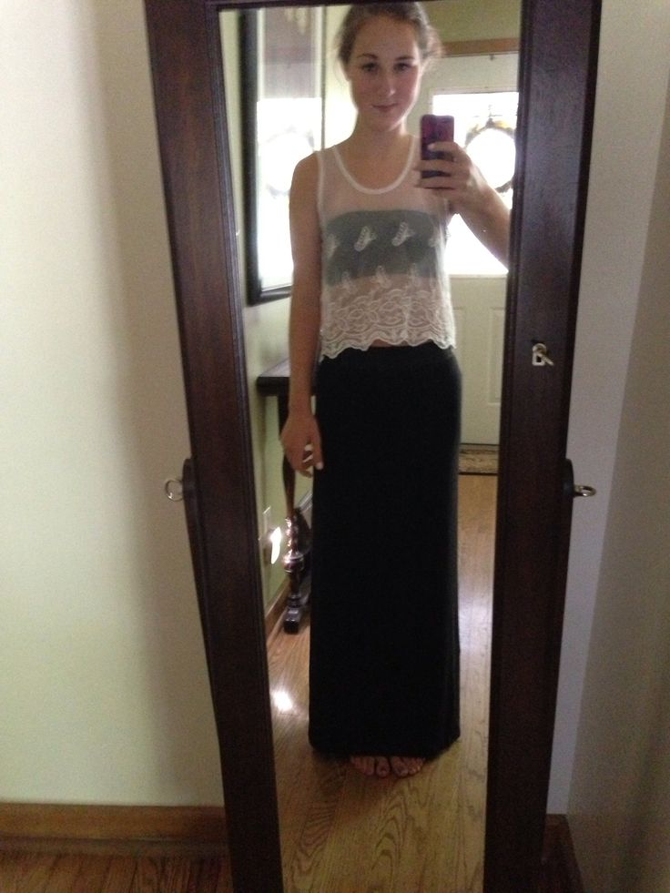 Black Concert Skirt 40