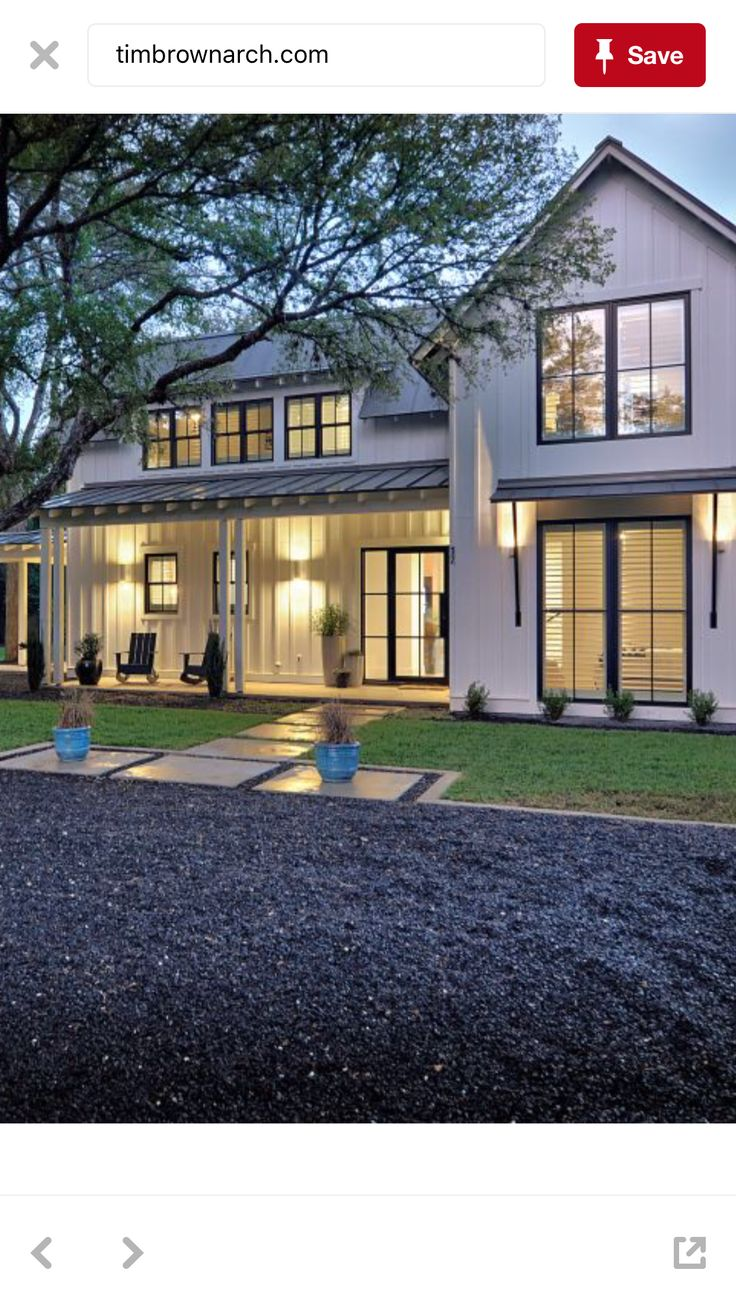 Modern exterior windows - Like The Awning Support Black Steel Black Window Frames And Window Style