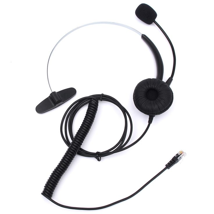 New ELEGIANT RJ11 Headset With Microphone Adjustable Metal Headband Telephone Noise Reduction Headphone For Office Call Center