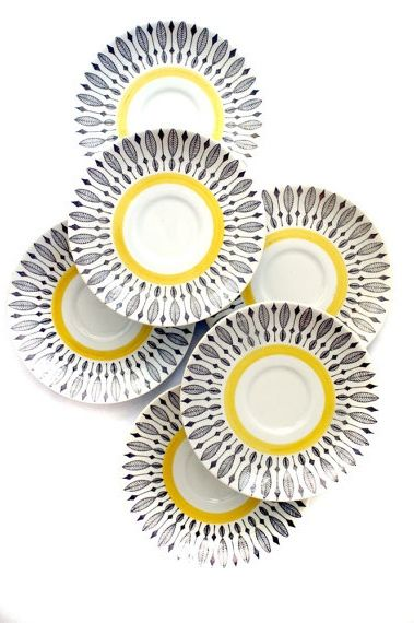 Anonymous; Glazed Ceramic Saucers by Rorstrand, 1950s.