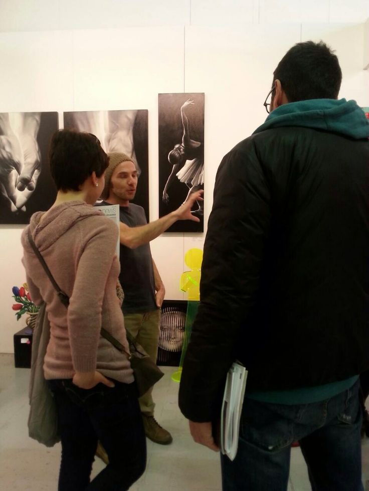 Rencontre fabuleuse avec  l'Artiste Zed à au Salon d'art de Milan au Stand de la Colorfield Gallery !!!