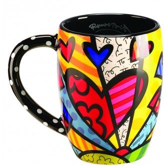 Romero Britto Mugs - Heart or Butterfly